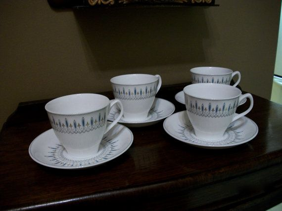 1960's Spode Cups and Saucers  Brussels Pattern by KlinknKlunk, $35.00