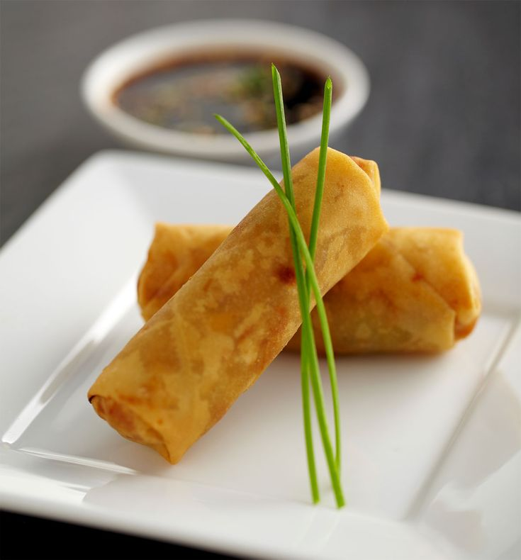 Curried Halibut Egg Rolls with Smoked Porter
