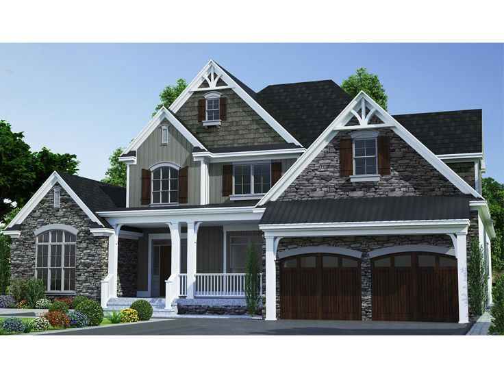 025h 0363 Two Story House Plan In 2020 House Plans Country House Plans Two Story House Plans