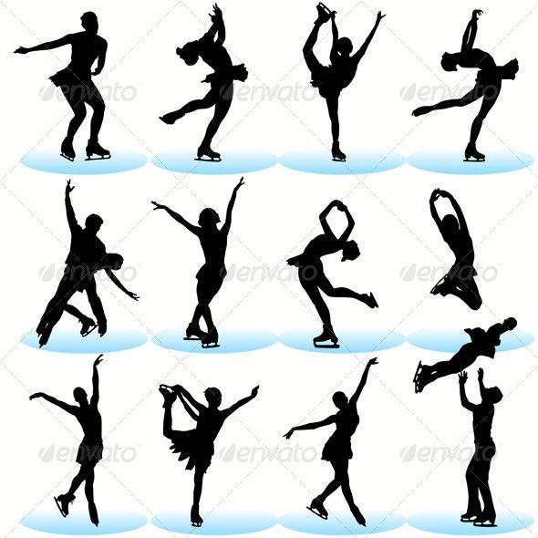Figure Skating Silhouettes Set