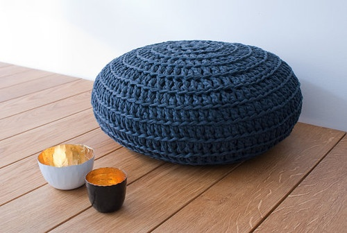 Dark Gray Pouf by Nanahome eclectic ottomans and cubes