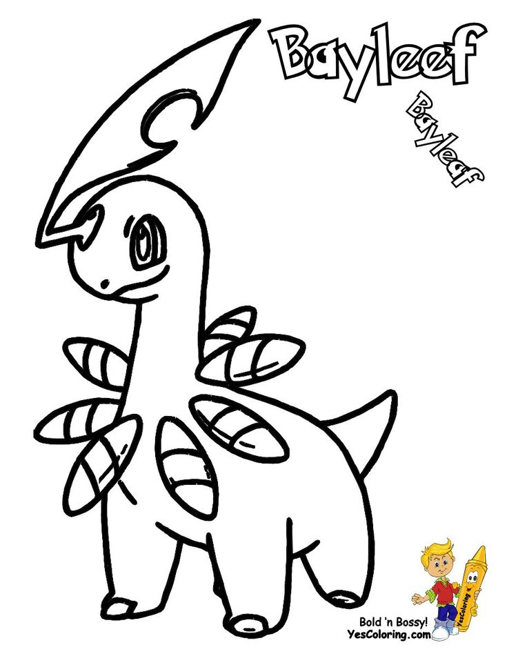 Pokemon Chikorita Coloring Pages Coloring Pages Cartoon