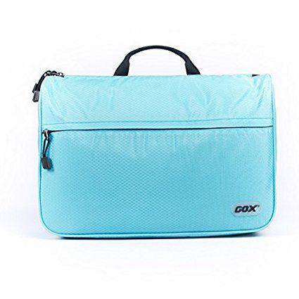 Beauty Case da Viaggio, GOX Premium 420D Nylon Impermeabile Folio portatile fronte Kit Open Design Pacchetto Borsa / Lavanderia / Borsa da Toilette / Organizzatore di Viaggi con gancio / One-Day Pack Bag (Small, Cielo Blu)