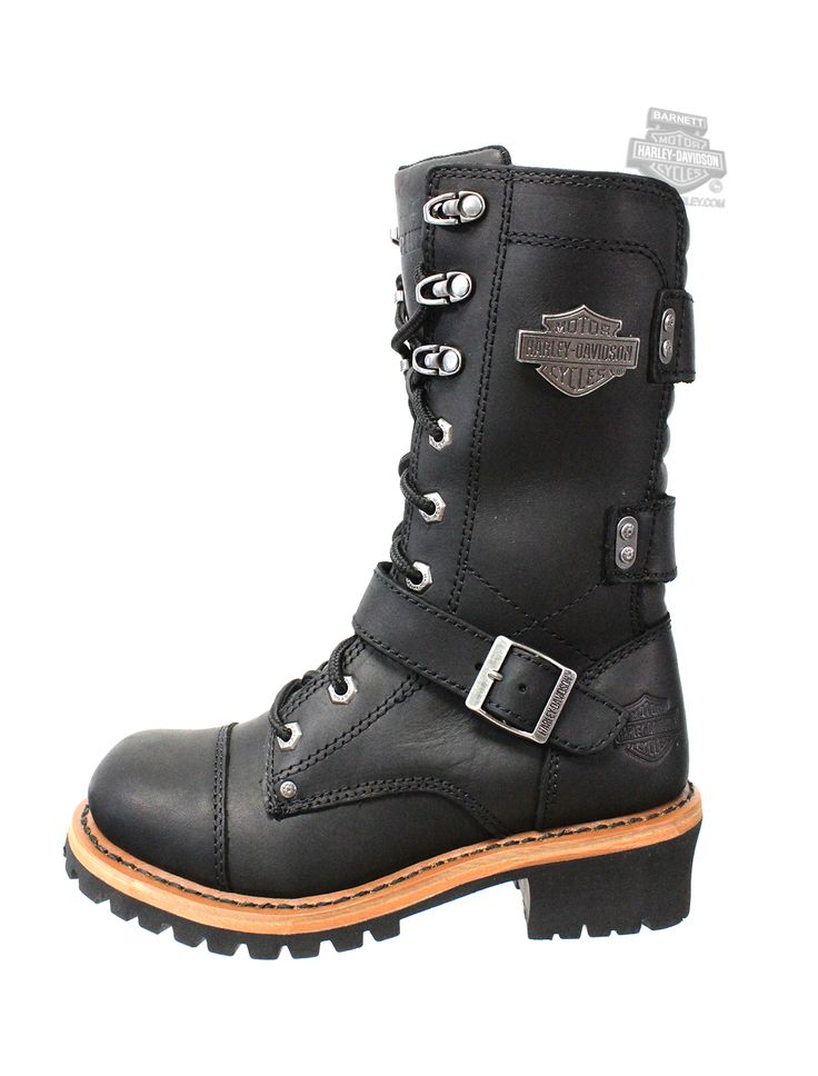 Harley-Davidson® Womens Albara Black Leather High Cut Boot - H-D® Dealer Exclusive 87066