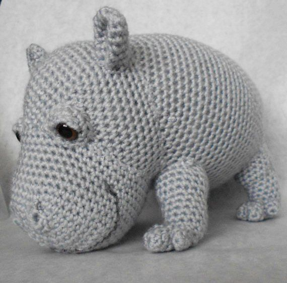 Crochet Pattern Free Hippo : crochet hippo Creations Pinterest