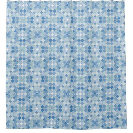 Lattice Quatrefoil Pattern Cerulean Blue Shower Curtain Check out this wonderful shower curtain. Get something different than what is in the store. #showercurtain #bathroomdecor #bathroomideas