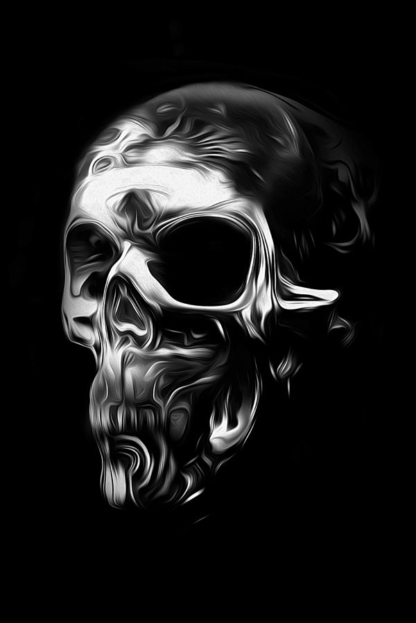 FANTASMAGORIK® METALLIC SKULL FACE 2 by obery nicolas, via Behance