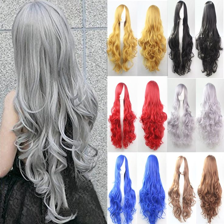 Synthetic Long Cosplay Wigs 1pc/lot Long Wavy HairStyles Multicolor Wig Heat Resistance Synthetic Wigs For Europe And USA Women.Made by 100% Japan high temperature fiber,looks like real hair and more confortable,soft,breathable.It brings out a positive and happy mood everywhere around us and that to make some change in the hairstyle.A comfortable experience, a confident appearance.Ok, maybe  you can think about the cosplay wigs.