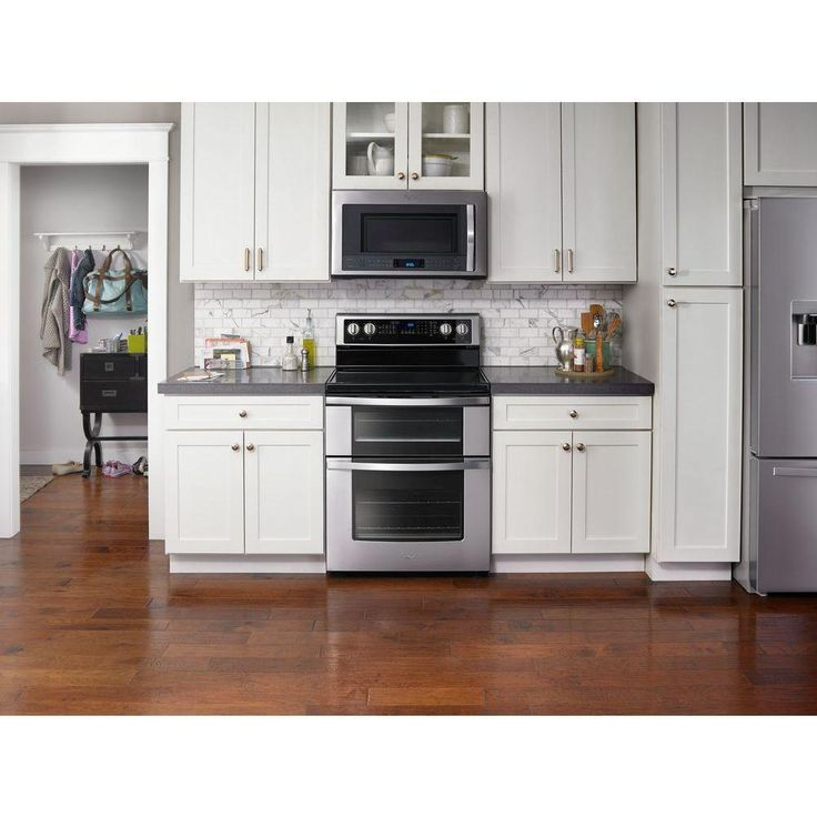 Whirlpool 6.7 cu. ft. Double Oven Electric Range with True Convection in Stainless Steel-WGE745C0FS - The Home Depot
