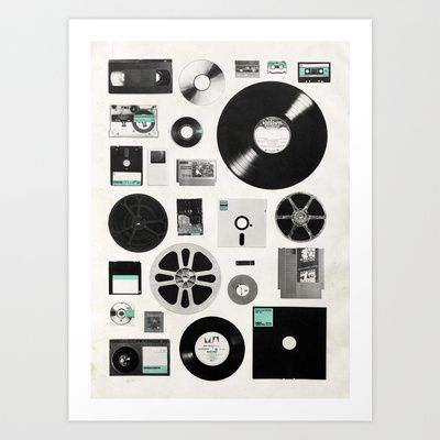 Data Art Print by Speakerine / Florent Bodart - $19.95