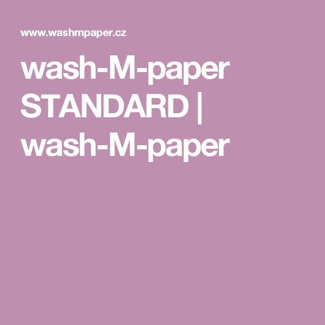 wash-M-paper STANDARD | wash-M-paper
