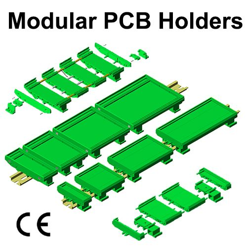 Modular PCB Holders : DIN Rail or Panel Mount Universal Mounting for 73 & 108 mm width PCB Modular PCB Holders provides quick & easy mounting of PCBs on all three Rails. Application : Interface modules for Relays, Din Connectors, Flat Cable, Opto - coupler, Switch.. #GaurangEnclosures #DinRailPcbHolders #PCB #DinRailEnclosures #PlasticEnclosures #WallMountEnclosures #ElectronicEnclosures #Enclosures Mfg: www.gaurang.com