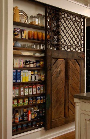 love the idea of sliding barn doors for cupboard/pantry