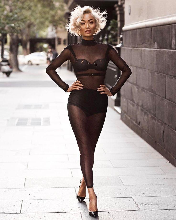 Sheer black delight…  Dress by @jessicarichcollection #JessicaRichCollection ✨