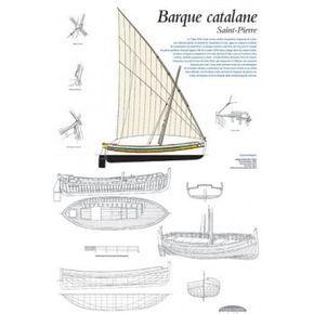 Plan de modélisme, barque catalane