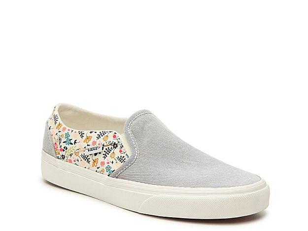 Asher Stripe Floral Slip-On Sneaker