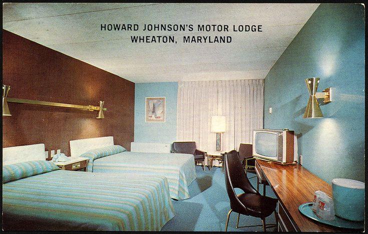 Howard Johnson S Motor Lodge 1960 S Lodge Room Retro Bedrooms Mid Century Modern Design