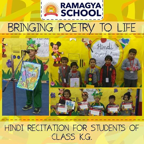 Hindi Poem Recitation competition was organised for class K.G. students. #Ramagyaschool #learn #train #educate #dream #motivation