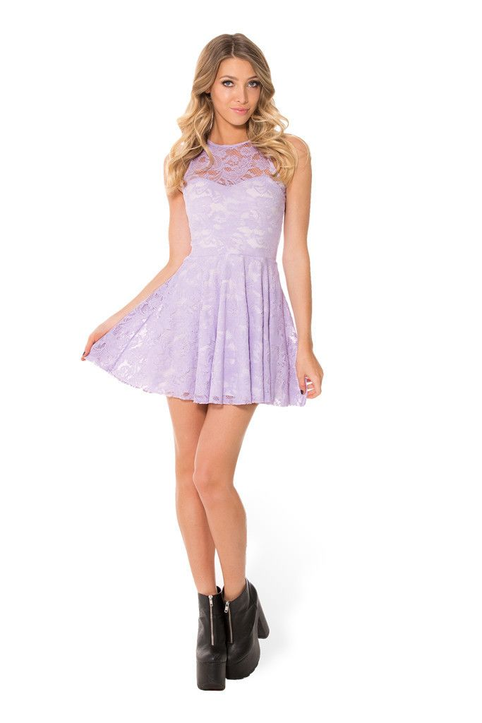 Lilac Lace Skater Dress – Black Milk Clothing