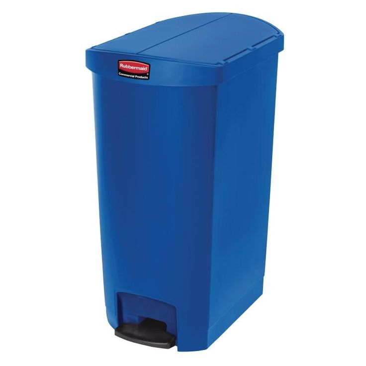 Cubo de basura de polipropileno de pedal 68L. Rubbermaid Slim Jim