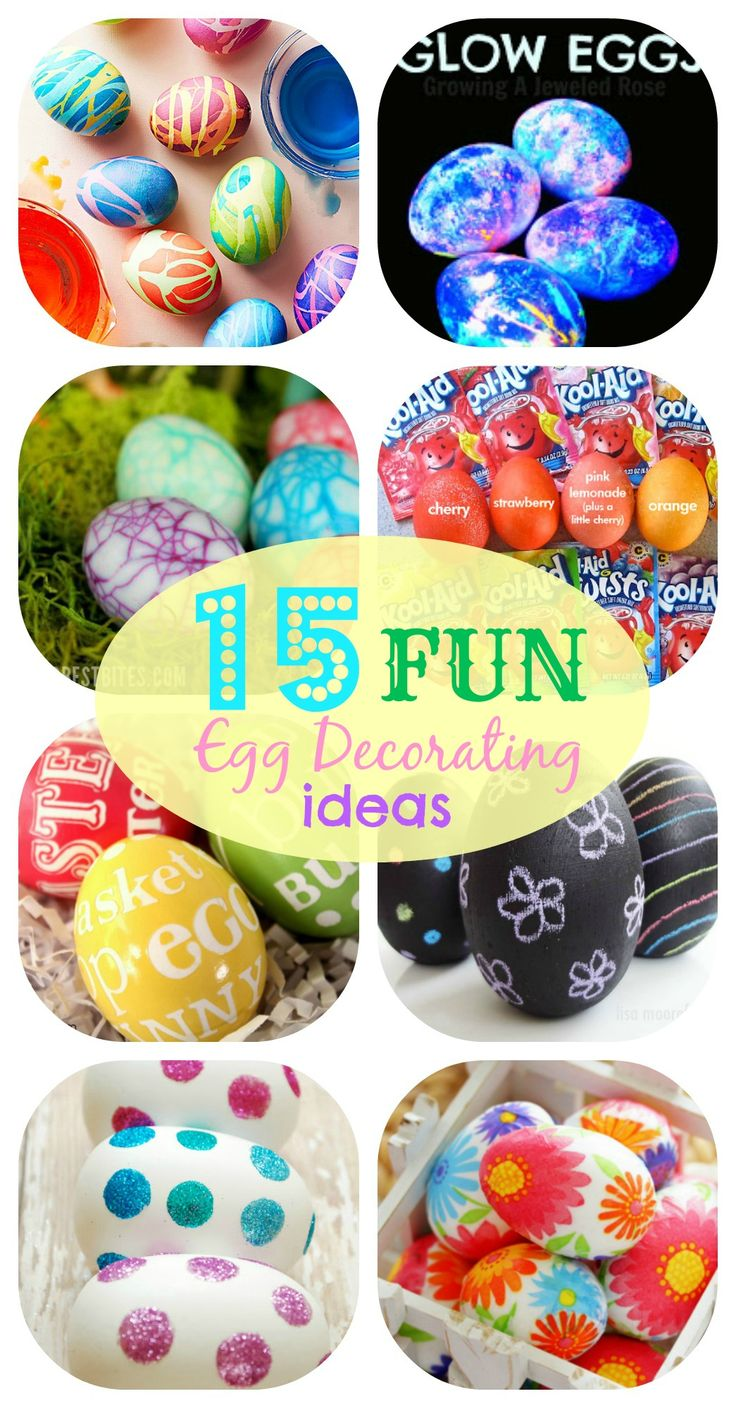 15 Fun Egg Decorating Ideas #easter