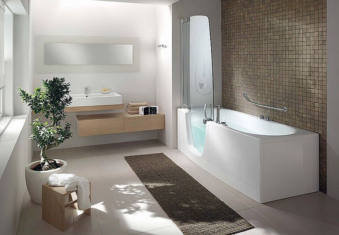 Walk in bathtubs with shower for relaxing bathing experience