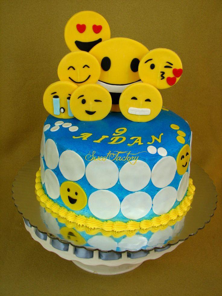 Emojis cake / Emoticons cake. | Boys Cakes | Birthday cake ... Pretty Cupcake Ideas