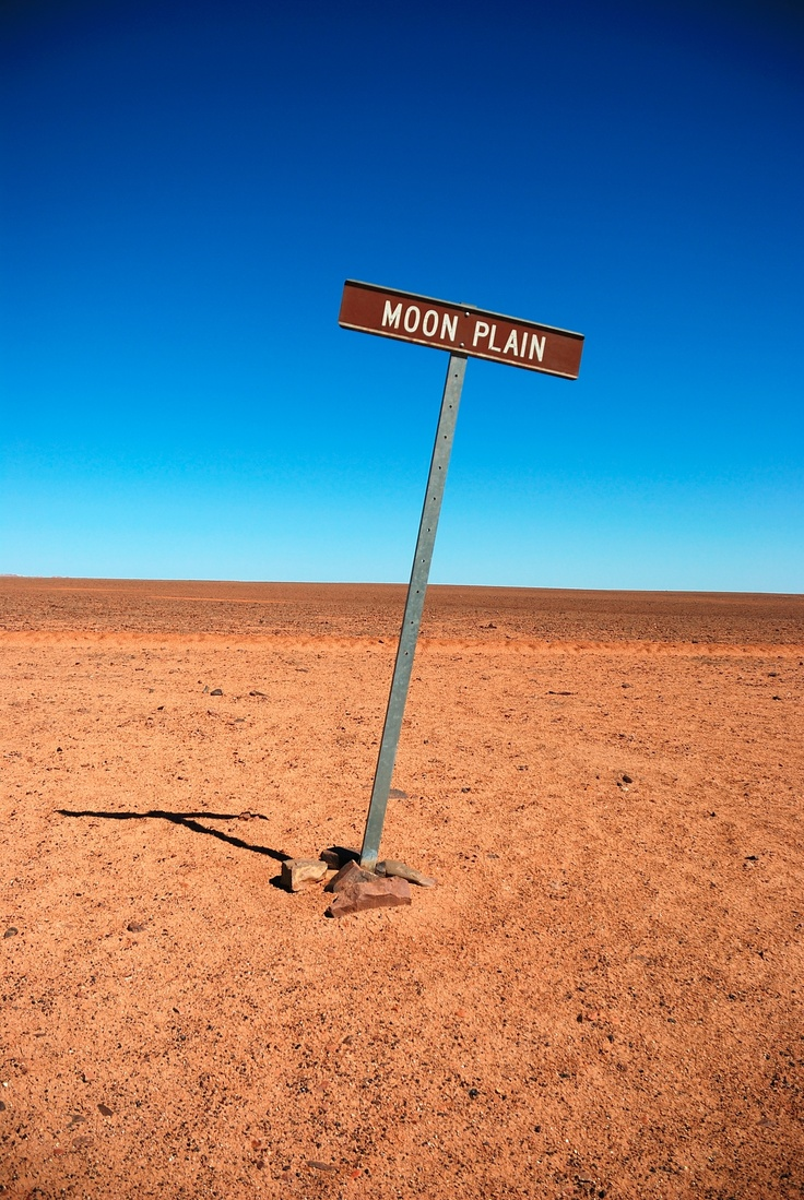 Moon Plain - Coober Pedy - really spewing that the road was closed due to bad weather and we couldn't actually go out here, wah!