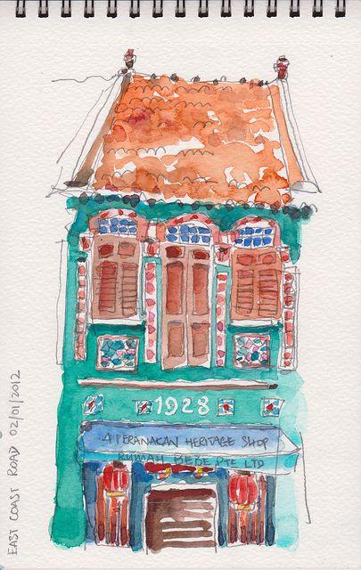 Peranakan shophouse by Paul Wang http://www.flickr.com/photos/fireflyworkshop/sets/72157628691685661/