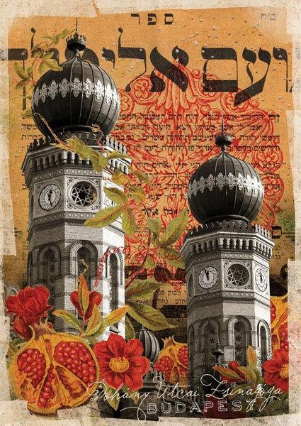 Postcard - Budapest - Sinagoga. Ft400.00, via Etsy.