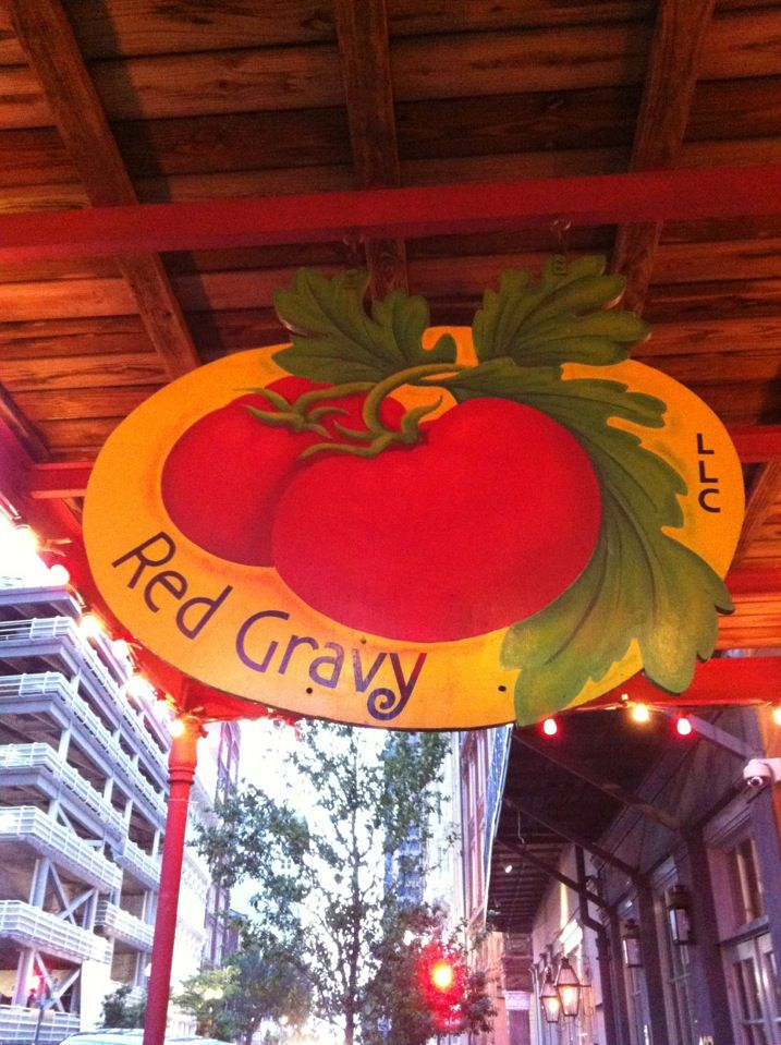 Red Gravy in New Orleans, LA-Best food ever!