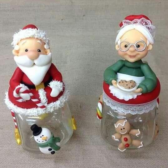 Mejores 70 im genes de frascos de navidad mu ecos y for Adornos navidenos en porcelana fria utilisima