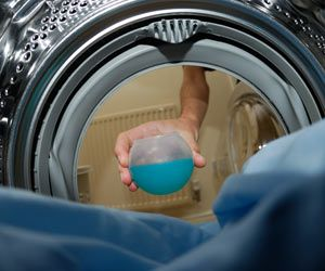 Get your white laundry white again from hard water stains. 1/3 cup baking soda and 1/3 cup vinager to each load.