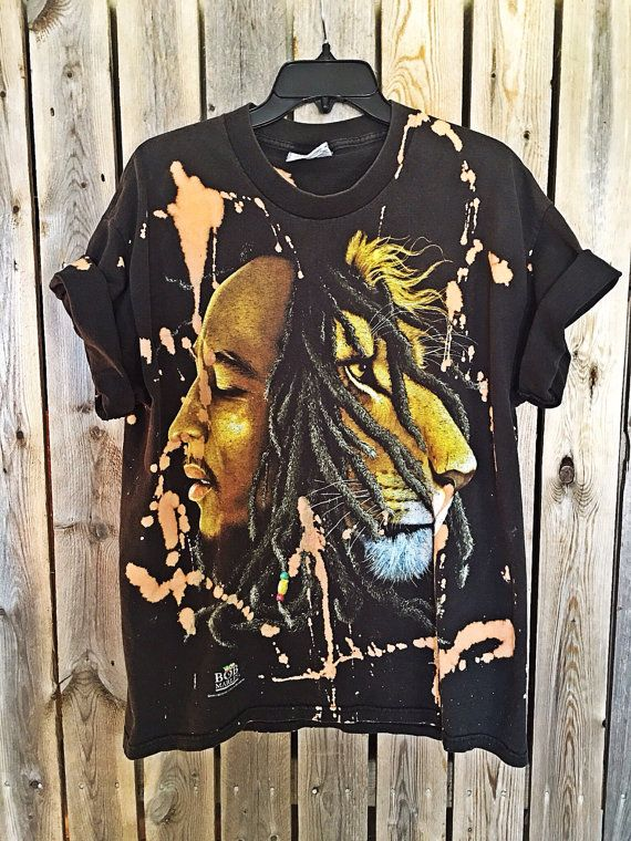 Bleached, tie dyed  Bob Marley shirt unisex, hippie, concert tee, boho, music tee  Bob Marley tee available at my Etsy store