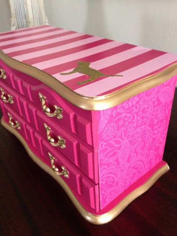 Vintage Upcycled Jewelry Box Victoriau0027s By ColorfulHomeDesigns, $62.00