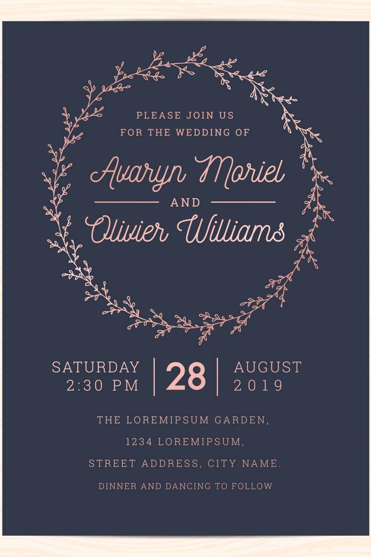 Elegant And Professional Wedding Invitations Design Online For