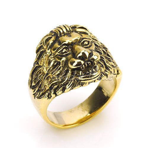 Yellow Gold Lion Ring Fine or Fashion: Fashion Item Type: Rings Style: Trendy Gender: Unisex Setting Type: None Material: None Occasion: Party Metals Type: Stainless Steel (gold plated) Shape\pattern: