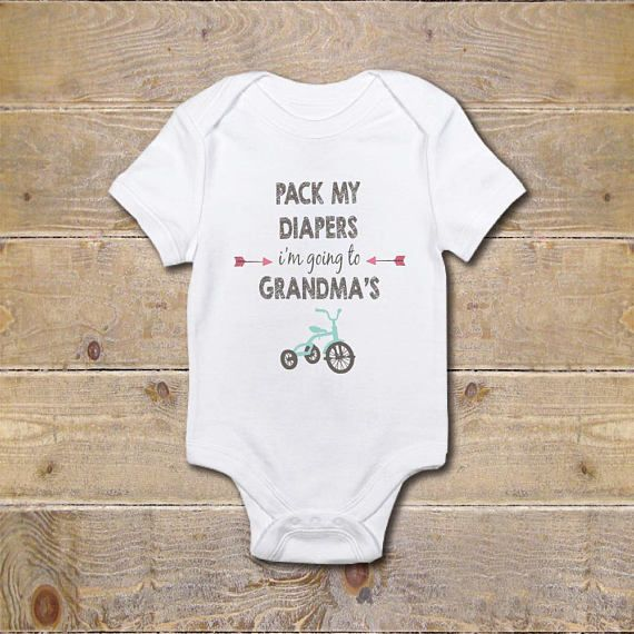 A Sweet Gift For Baby Details Each Onesie Is Made From 100 High Quality Spun Polyester Sizes Baby Shower Onesie Grandma Onesie Baby Shirts
