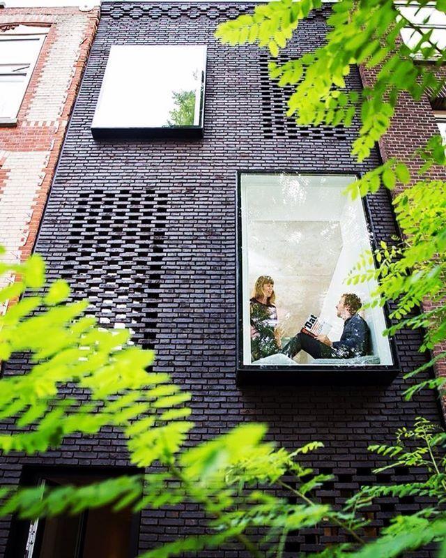 We Love the black brick facade, along with those beautiful windows!!   Project by: Gwendolyn Huisman and Marijn Boterman. Image via @dezeen