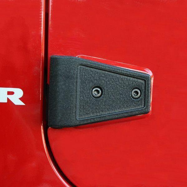 Door Hinge Cover Kit, Textured Black; 07-16 Jeep Wrangler JK