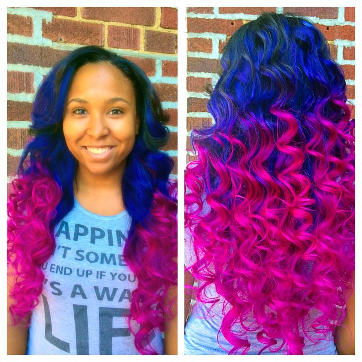 7 best hair images on pinterest bobs dye hair and flexi rods blue and purple tones wpink ombre full sew in weave pmusecretfo Gallery