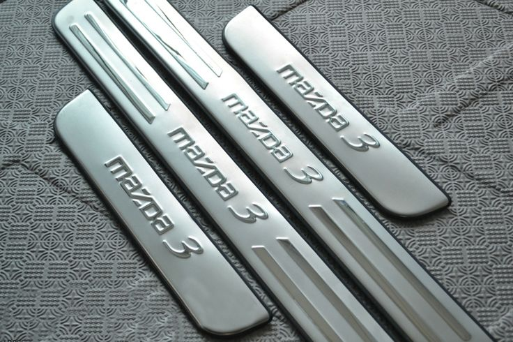 2006-2012 Mazda 3 Stainless Steel Scuff Plate Door Sill Ultrathin Threshold Strip Welcome Pedal Car Styling Accessories 4pcs/set(China…