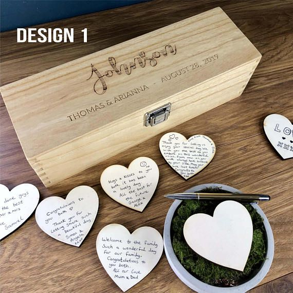 Wedding Guest Book - GuestBook Alternatives - Guestbook Sign - Personalized Custom Guest Book - Rustic Wedding Box - Hearts - Unique Ideas A beautiful alternative personalised Wedding Guest Book. Not the standard one seen at every other wedding you have been to. This beautiful guest