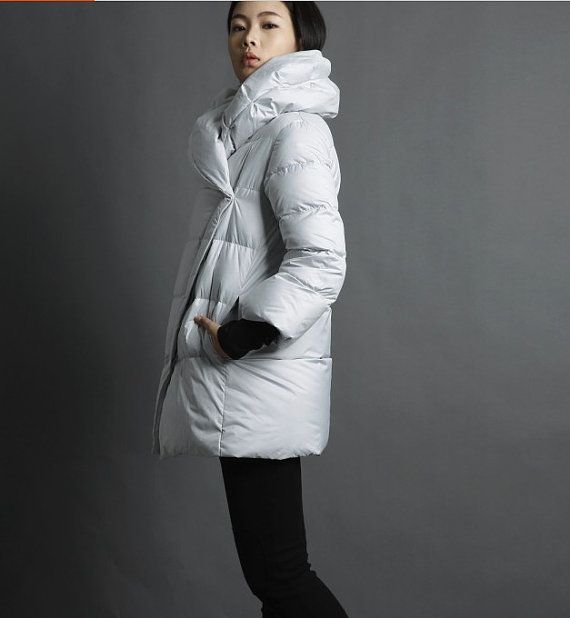 Down Coat 3/4 Sleeve Down Jacket Womens by ttlovewomenclothing