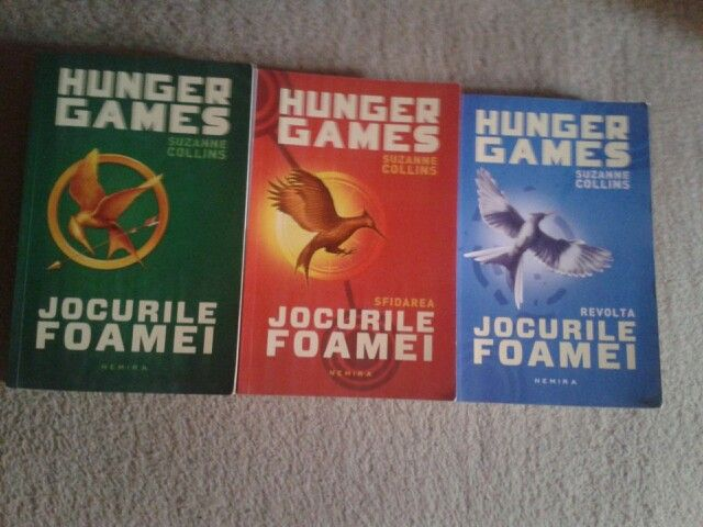 Hunger Games trilogy by Suzanne Collins. These books are great.