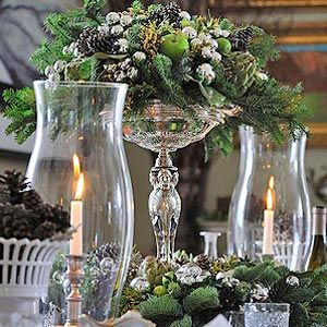 Using a wreath as a centerpiece.../