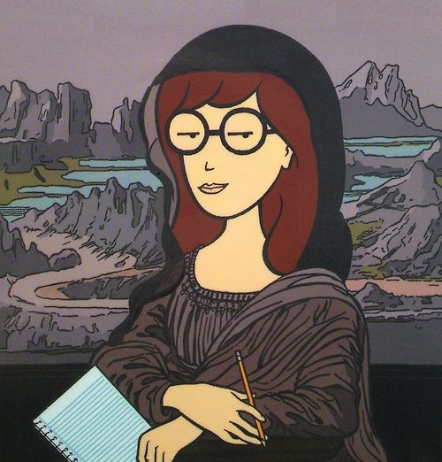 Daria and the Mona Lisa have the same wry smile!