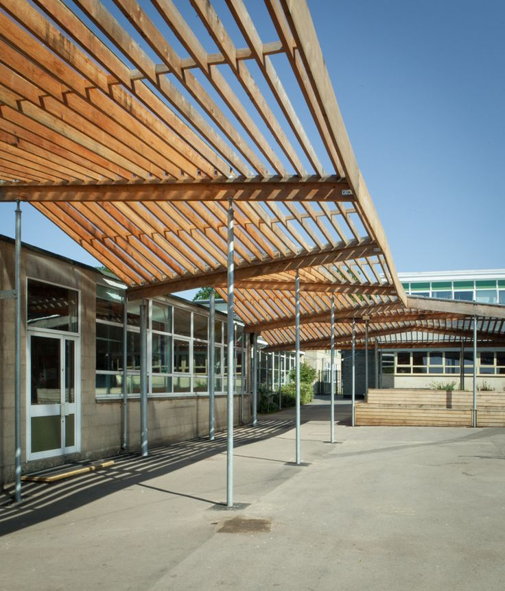 Larch canopy canopies pinterest projects and canopies for Modern building canopy design