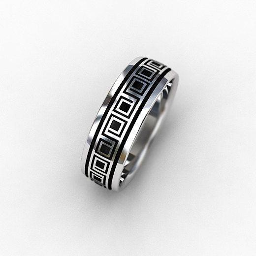 Great Laser engraved Titanium wedding band for men