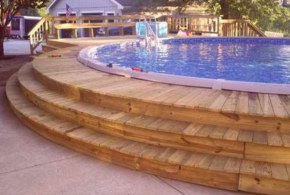 The 25 best above ground pool decks ideas on pinterest for Most popular above ground pools